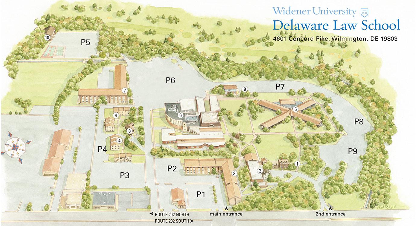 Delaware Law Campus Map