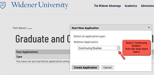 Application Process Step 6